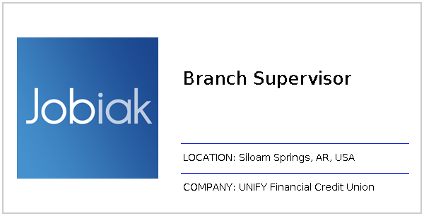 Branch Supervisor job at UNIFY Financial Credit Union in
