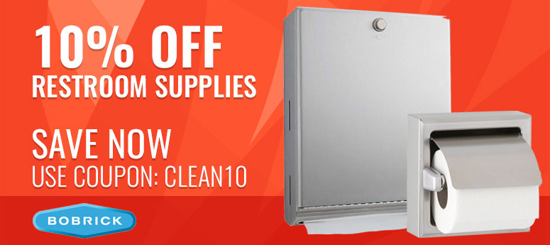 10% off Restroom Supplies - SAVE NOW Use Coupon: CLEAN10