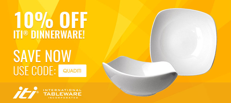 10% off ITI® Dinnerware! Use Code: QUADITI