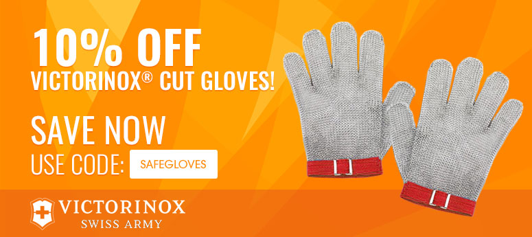 10% off Victorinox® Cut Gloves! Use Code: SAFEGLOVES