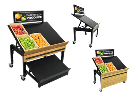 Produce Display Racks & Tables