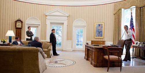 Barack Obama in Oval Office 2010