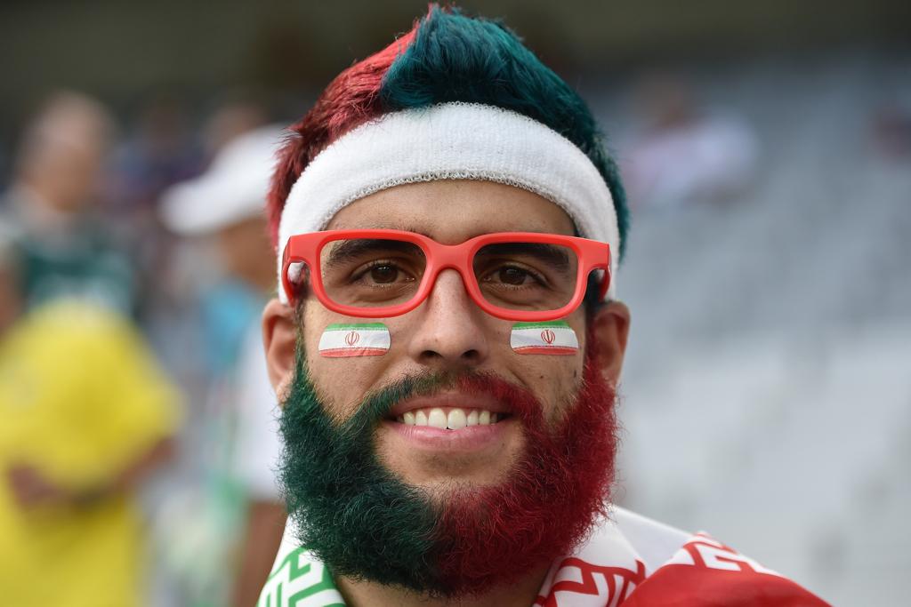 world cup fans iran beard