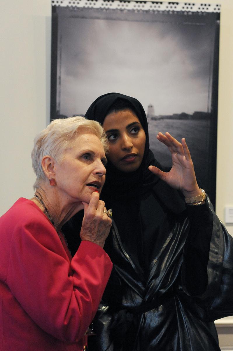 Artist Maitha al Mehairbi with Jan Du Plain