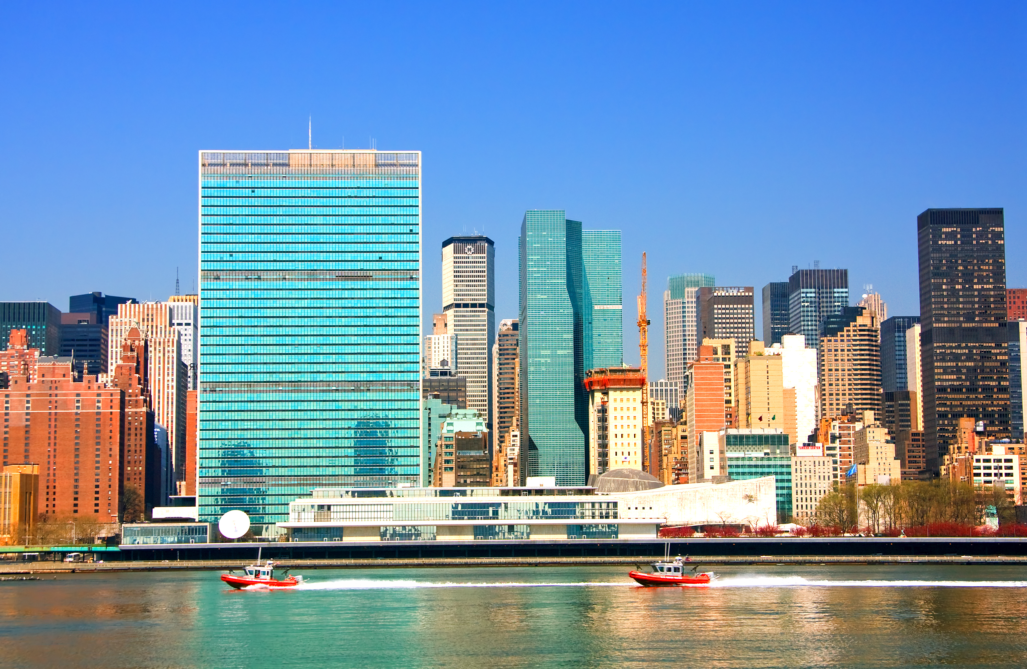 East River and United Nations