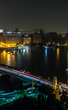 Cairo, Oct 14: The bustling capital city of Egypt becomes more alive after the sun set. October 14, 2014, Cairo, Egypt