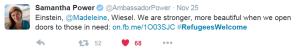 Ambassador_Samantha_Power_Tweet_on_Refugees