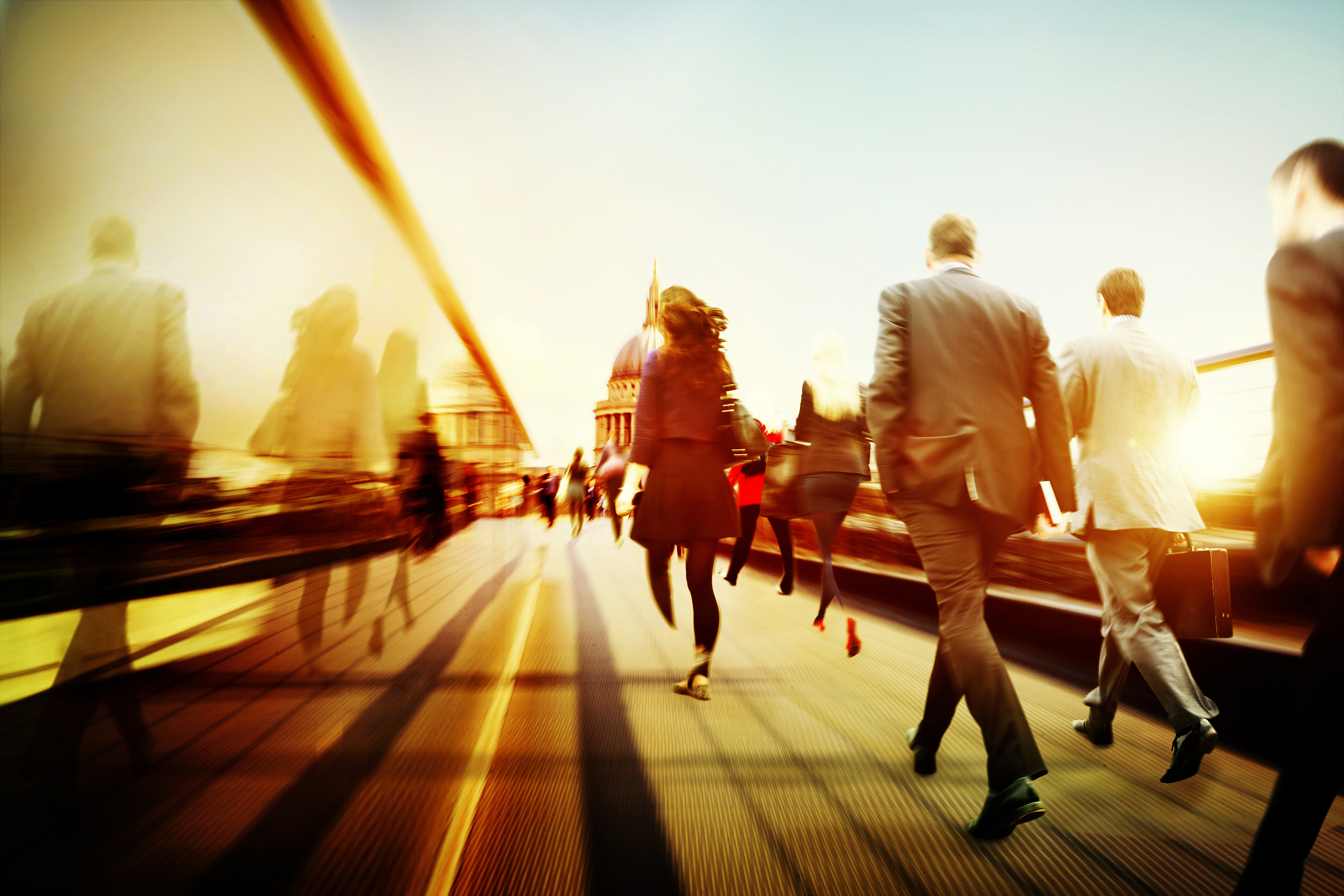 Business People Corporate Walking Commuting City Concept ...