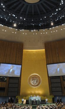 H. E. Mr. Barack Obama, President of the United States, addresses the 65th General Assembly.