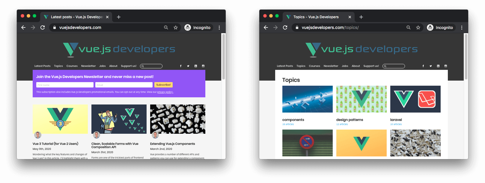 Vue.js Developers Blog