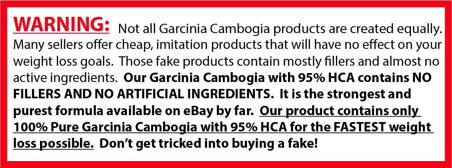 5 Pack GARCINIA CAMBOGIA 95% HCA Diet Pills Weight Loss Fat Burner 3000mg 5