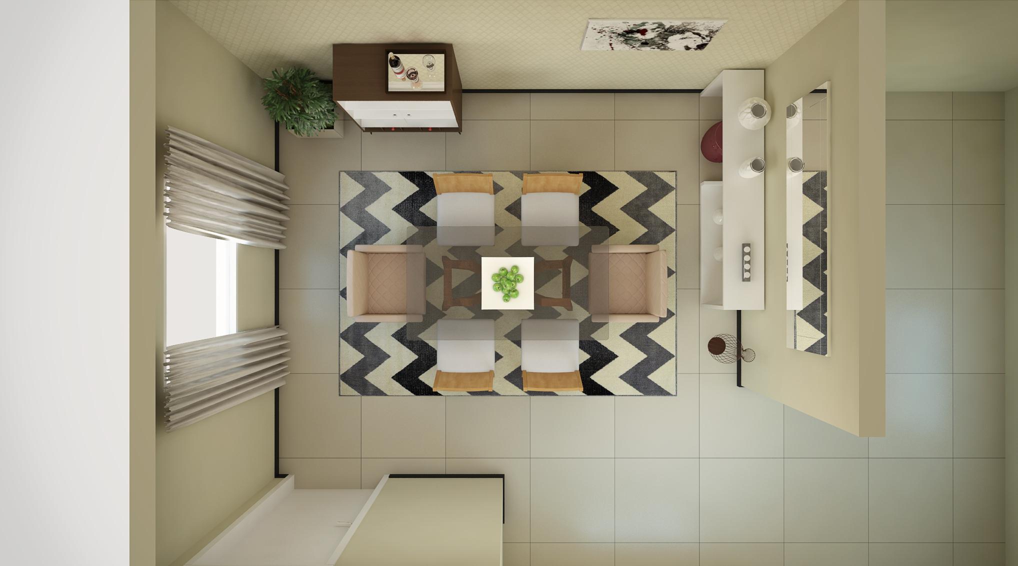 Sala de Jantar estilo Moderno sofisticado