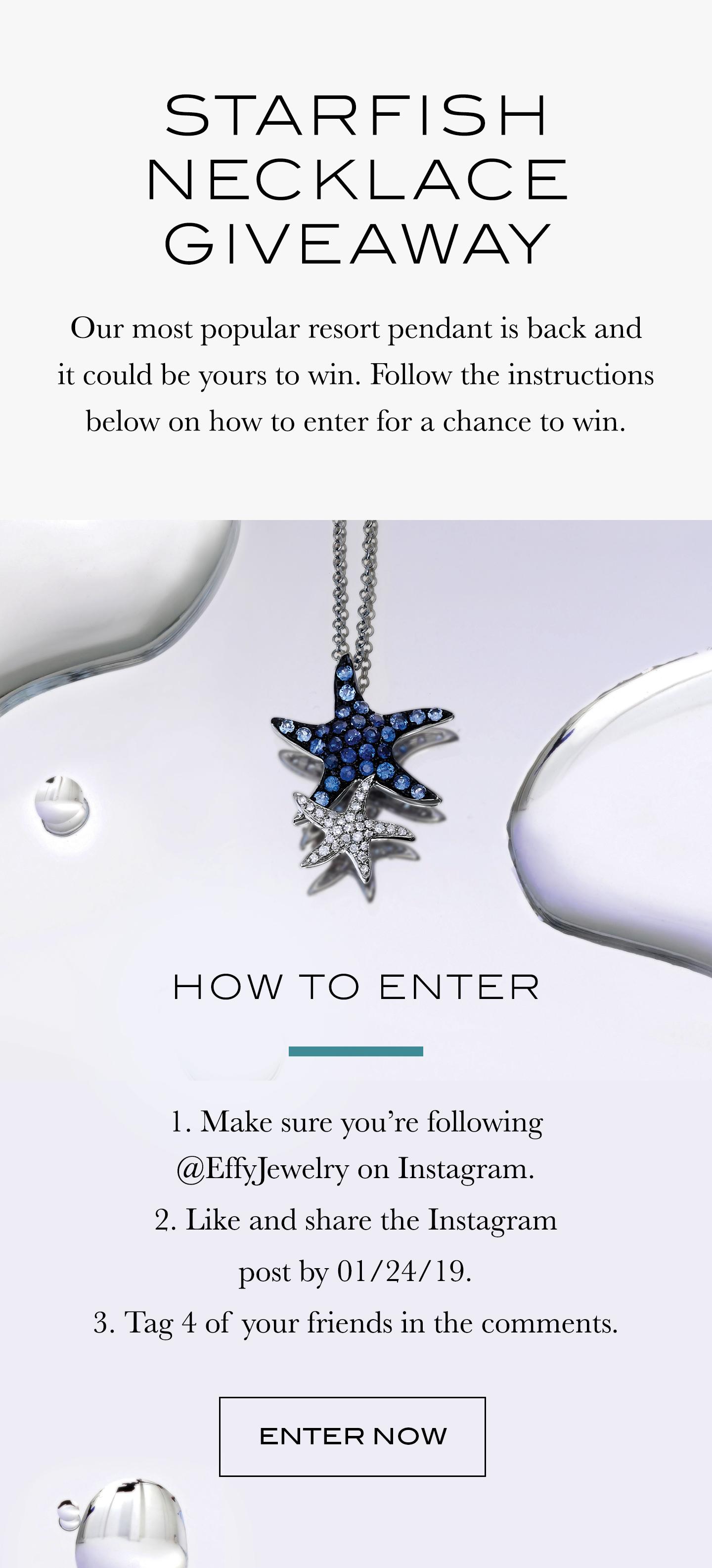 Instagram Sweepstakes Giveaway | effyjewelry com