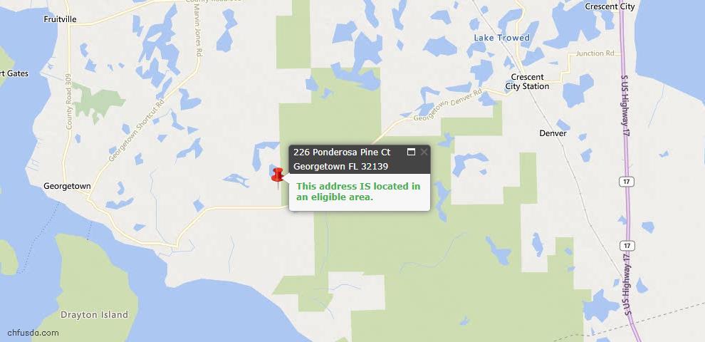 USDA Loan Eligiblity Maps From - Georgetown, FL