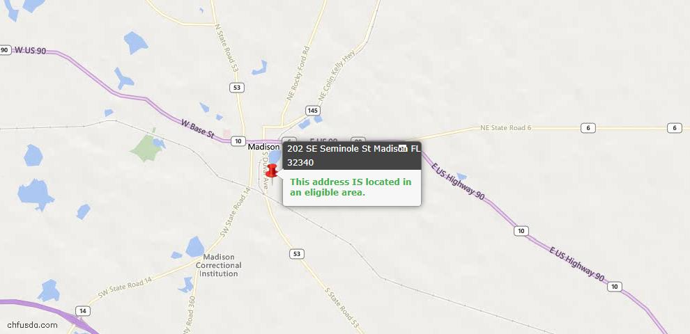 USDA Loan Eligiblity Maps From - Madison County, FL