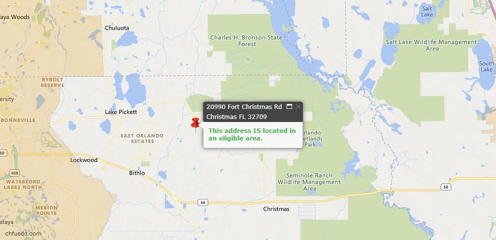 USDA Loan Eligiblity Maps From - Christmas, FL