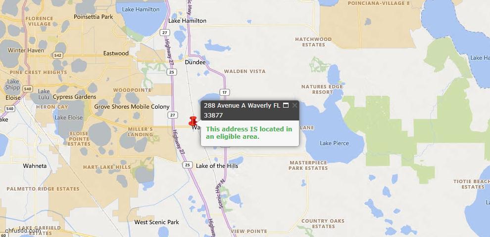 USDA Loan Eligiblity Maps From - Waverly, FL