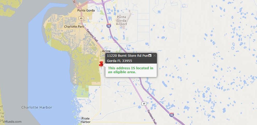 USDA Loan Eligiblity Map - 11220 Burnt Store Rd, Punta Gorda, FL 33955