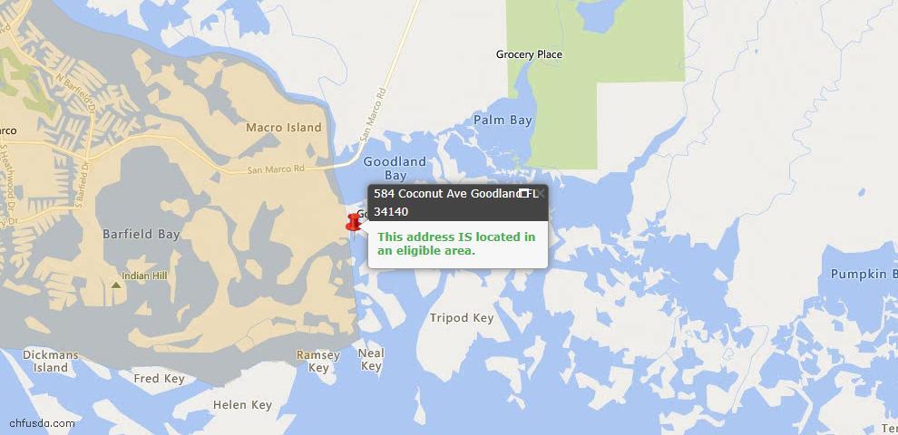 USDA Loan Eligiblity Maps From - Goodland, FL
