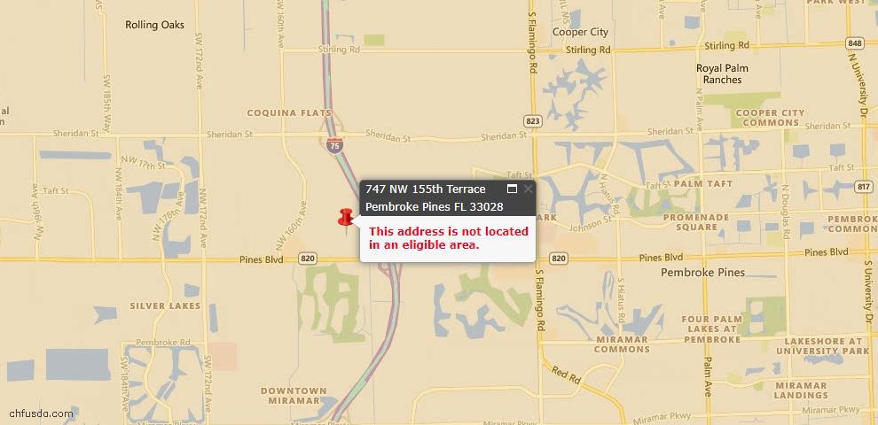 USDA Loan Eligiblity Maps From - Lakewood Rch, FL