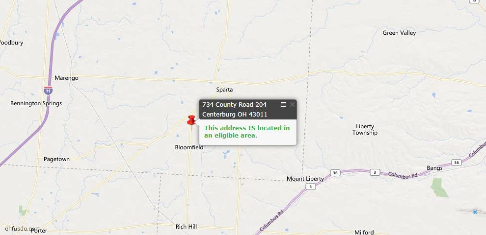 USDA Loan Eligiblity Maps From - Knox County, OH