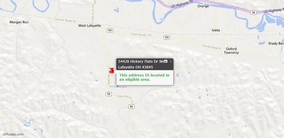 USDA Loan Eligiblity Maps From - West Lafayette, OH