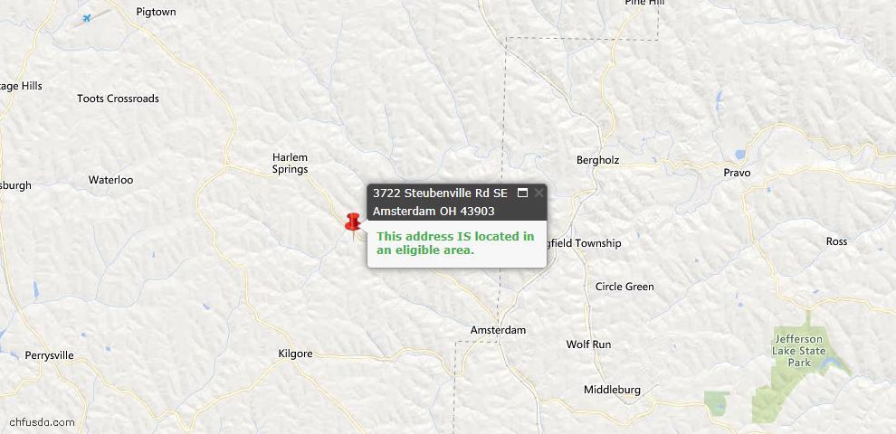 USDA Loan Eligiblity Maps From - Jefferson County, OH