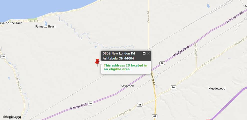 USDA Loan Eligiblity Maps From - Saybrook, OH