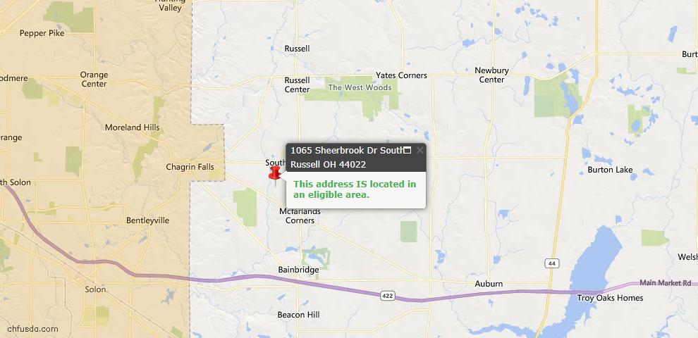 USDA Loan Eligiblity Maps From - South Russell, OH