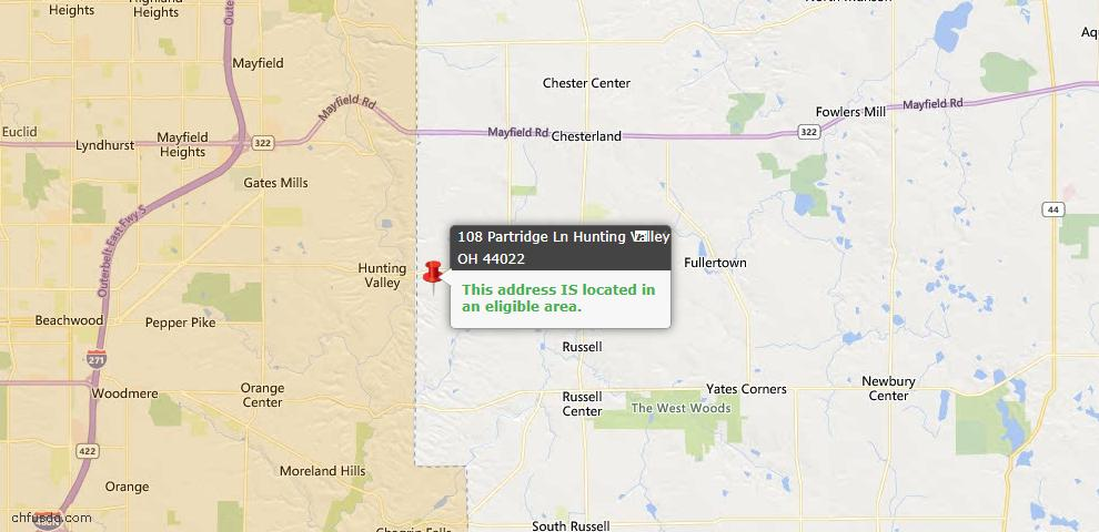 USDA Loan Eligiblity Maps From - Hunting Valley, OH