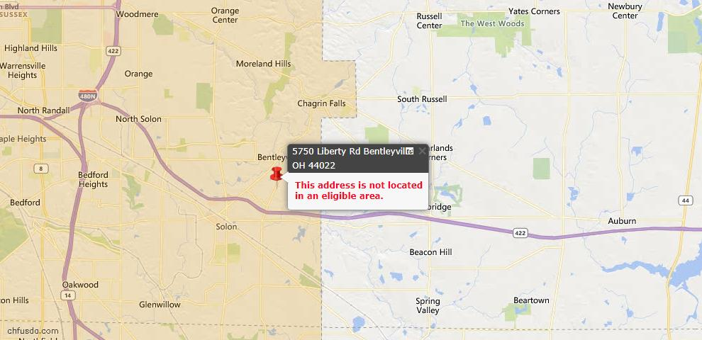 USDA Loan Eligiblity Maps From - Bentleyville, OH