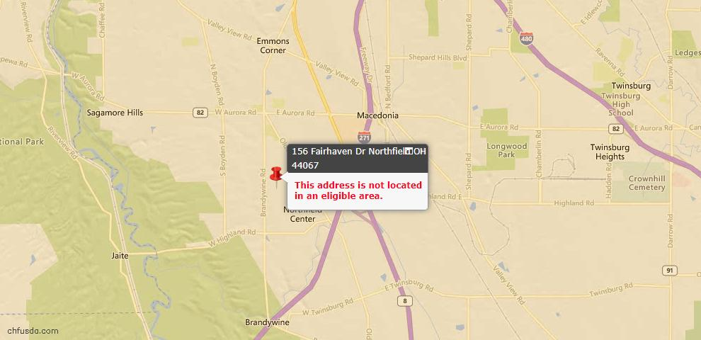 USDA Loan Eligiblity Maps From - Northfield Center, OH