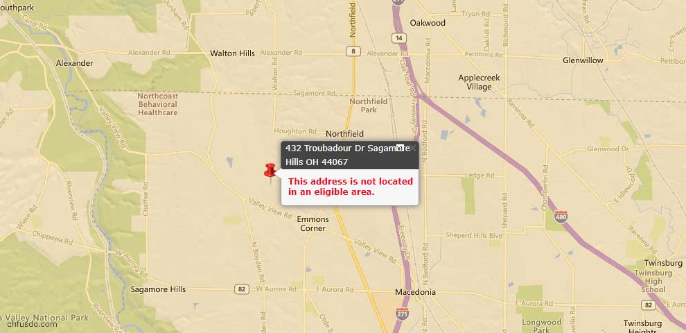USDA Loan Eligiblity Maps From - Sagamore Hills, OH