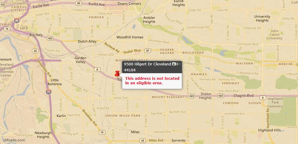 USDA Loan Eligiblity Maps From - 44104, OH