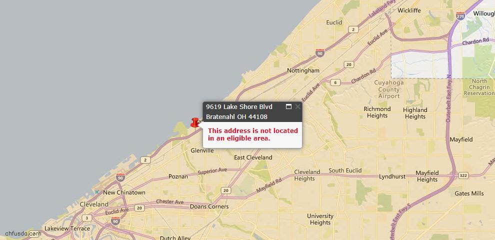 USDA Loan Eligiblity Maps From - Bratenahl, OH