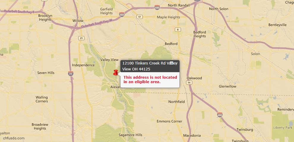 USDA Loan Eligiblity Maps From - Valley View, OH