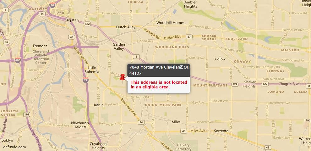 USDA Loan Eligiblity Maps From - 44127, OH