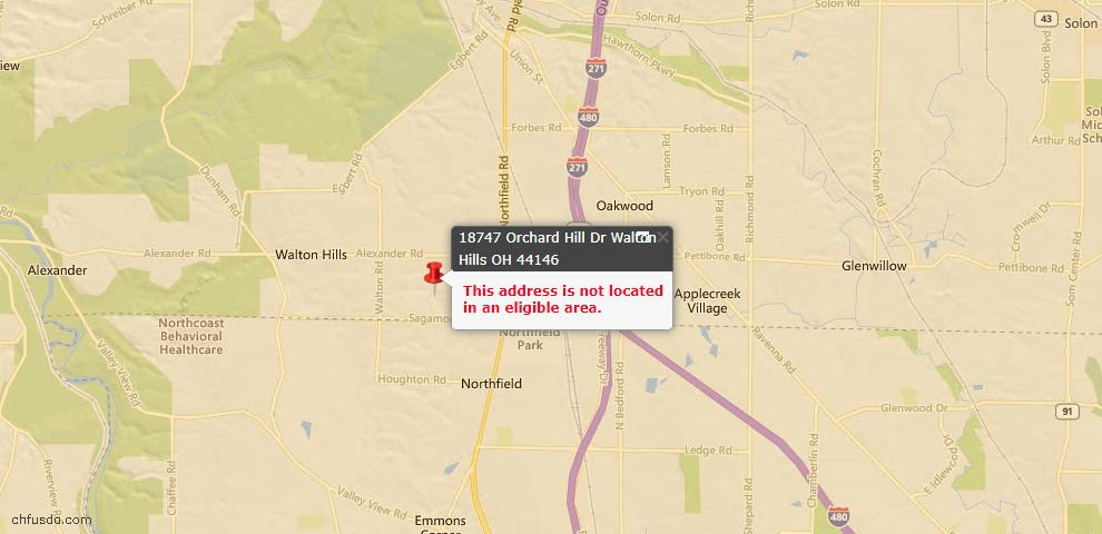 USDA Loan Eligiblity Maps From - Walton Hills, OH