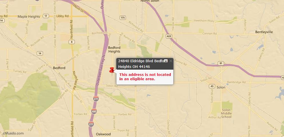 USDA Loan Eligiblity Maps From - Bedford Heights, OH
