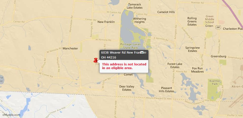 USDA Loan Eligiblity Maps From - New Franklin, OH