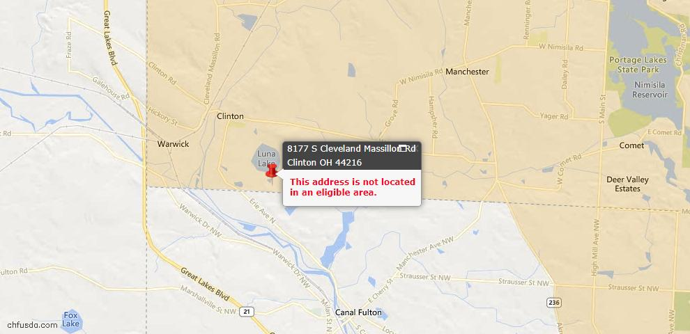 USDA Loan Eligiblity Maps From - Clinton, OH
