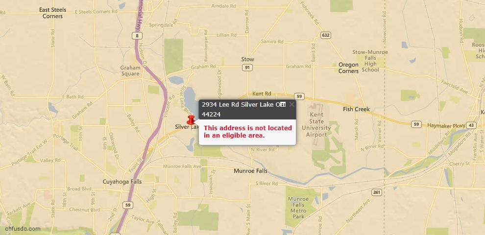 USDA Loan Eligiblity Maps From - Silver Lake, OH