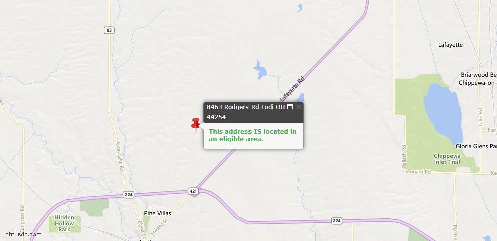 USDA Loan Eligiblity Maps From - Lodi, OH