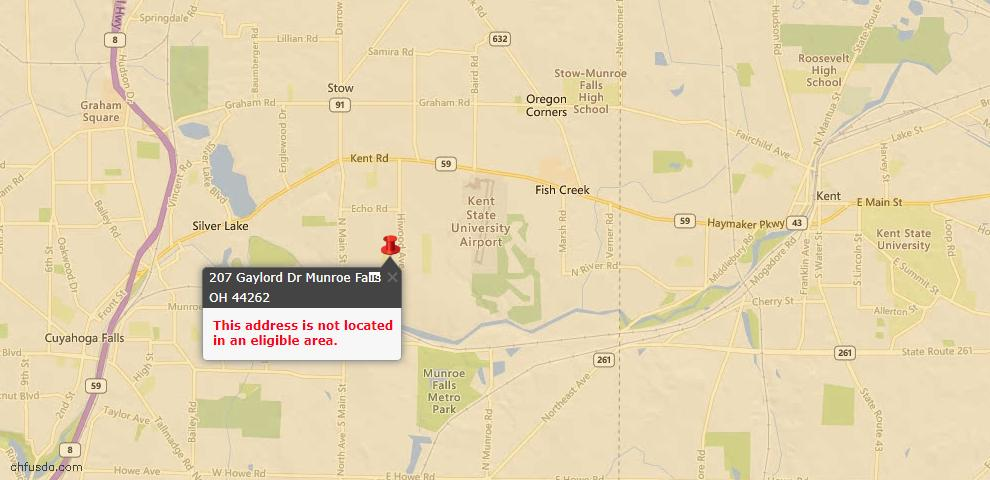 USDA Loan Eligiblity Maps From - Munroe Falls, OH