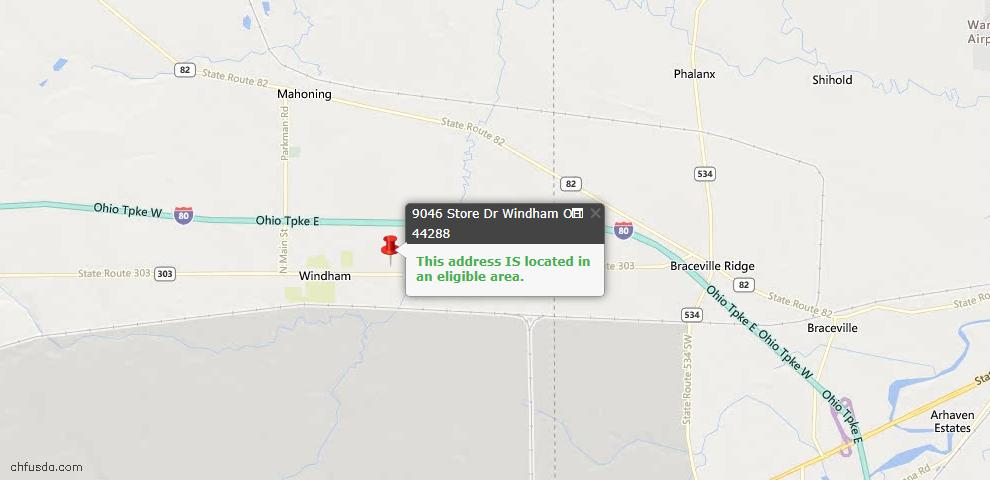 USDA Loan Eligiblity Maps From - Windham, OH
