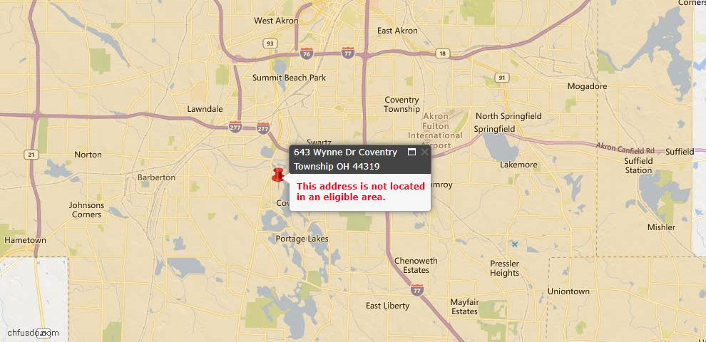 USDA Loan Eligiblity Maps From - Coventry, OH
