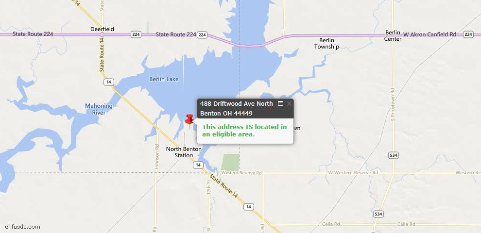 USDA Loan Eligiblity Maps From - North Benton, OH