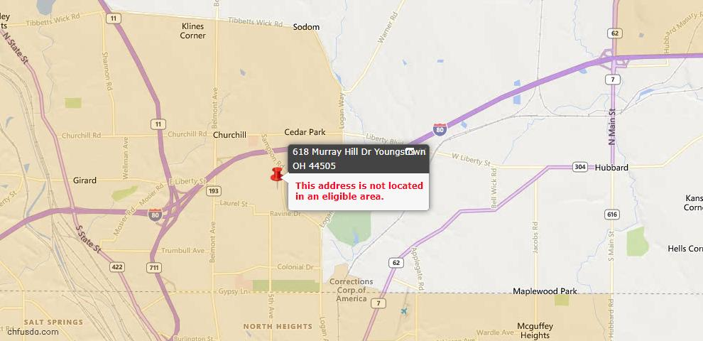 USDA Loan Eligiblity Maps From - Liberty, OH