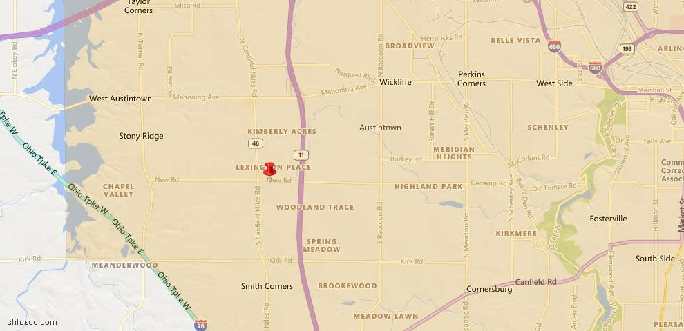 USDA Loan Eligiblity Maps From - Austintown, OH