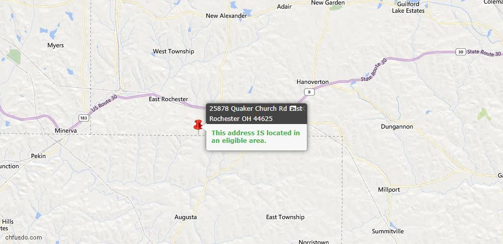 USDA Loan Eligiblity Maps From - East Rochester, OH